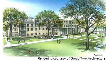Rendering of Fondren-Jones Science Center