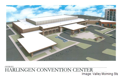 A rendering of the Harlingen Convention Center.