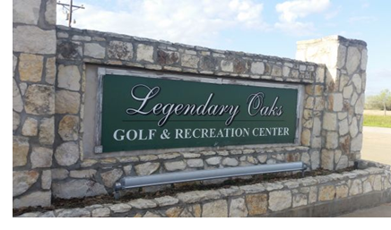 The entrance sign for the course.