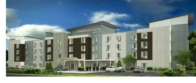 A rendering of the hotel that broke ground at 2925 Royalty Lane in Fort Worth.