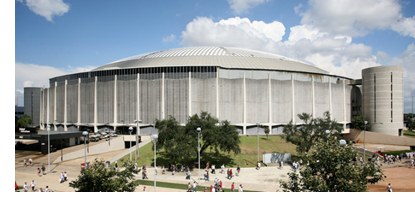 An exterior view to the Astrodome in Houston.