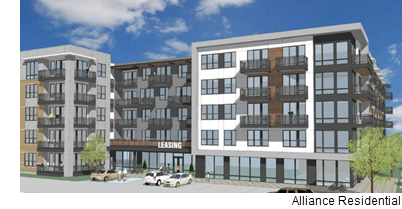 A rendering of Alliance Residential's Broadstone Studemont project. The developer is planning a garden-style project in Vintage Park, northwest of Houston.