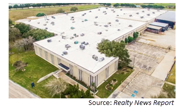 aerial view of the manufacturing facility.