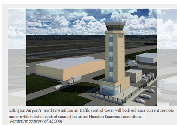 Ellington Airport Houston $12 million tower 2017