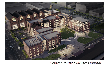 Rendering of the Founders District.