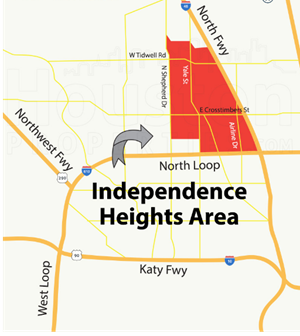Map of Independence Heights