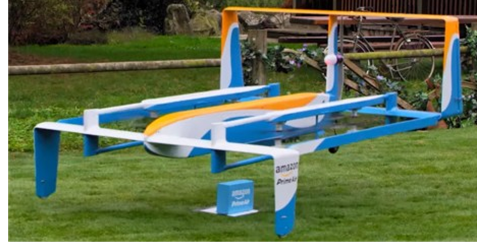 Picture of an Amazon Prime delivery drone