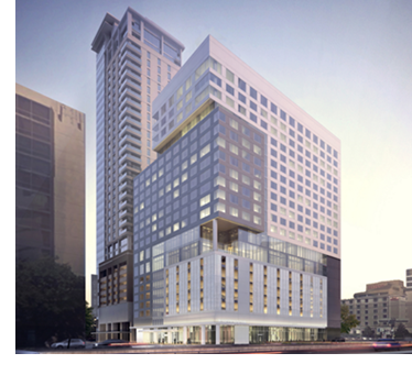 Medistar is developing a four-star InterContinental Houston Medical Center. The hotel features a 22 story hotel tower, 353 guestrooms and suites, 11,800 sf of meeting space, 7,800-sf grand ballroom, and six level parking structure.