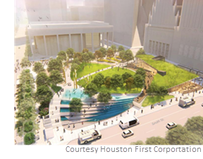 Jones Plaza in downtown Houston will undergo a $25 million redevelopment project