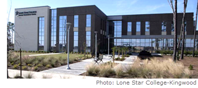 Lone Star College (LSC) - Kingwood opened an eight acre campus at Generation Park, also known as the Lone Star College - Process Technology Center, January 2018.