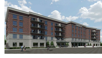Rendering of Courtyard by Marriott.