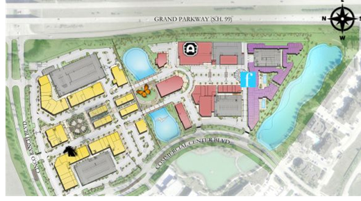 Site plans of LaCenterra Cinco Ranch