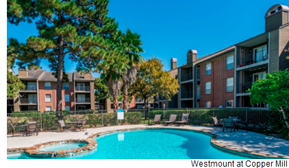 Westmount at Copper Mill is a garden-style multifamily community located at 15910 FM-529.