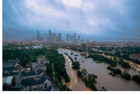 Picture of flooding in Houston
