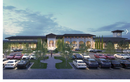 Rendering of the new Northside Lexus facility