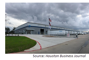 Image of the new facility at Conroe Park North Industrial Park.