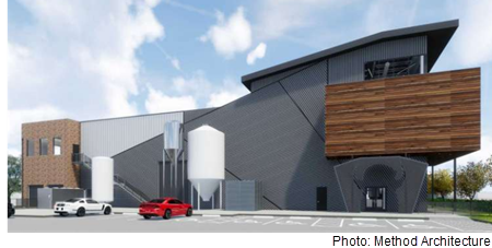 Renderings of the Buffalo Bayou Brewery