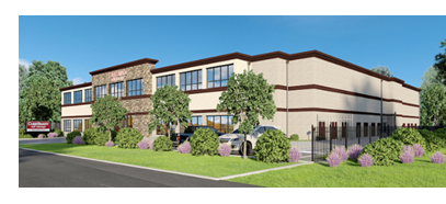 Rendering of storage facility in Pearland