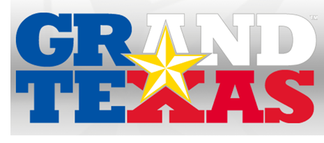 The logo for Grand Texas.