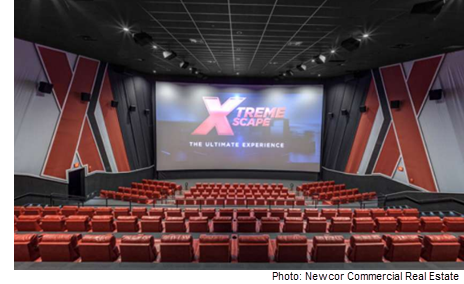 Interior of the Xscape theater system