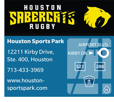 Houston City Council approved a $3.2 million deal for the city's Major League Rugby team, the SaberCats, to build a 3,500-seat stadium facility at the Houston Sports Park.