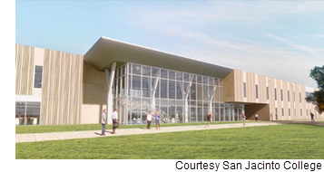 Rendering of the 74k-sf center for engineering and technology.