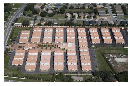 Aerial view of ShantiNiketan community