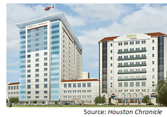 Rendering of the new medical tower.