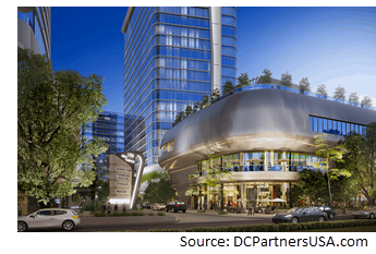 Rendering of the project at night.