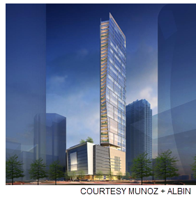 Rendering of Preston Tower.