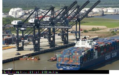 Bayport Container Terminal near Houston