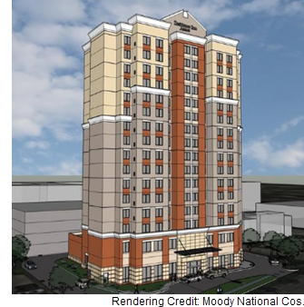 A rendering of the soon-to-be Residence Inn by Marriott.