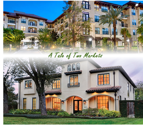 A tale of two markets, Houston's housing and multifamily markets diverge.