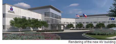 Renderings of the new AIV building