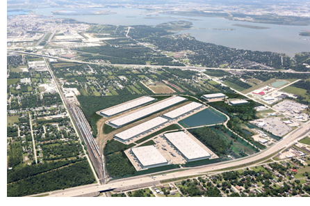An aerial rendering of Port 10 Logistics Center, a 3 million SF project near the Port of Houston, which is under development.