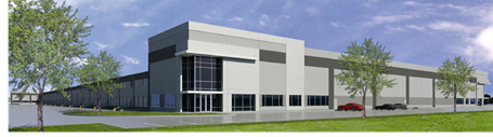 Renderings of the new Northwest Logistics Center