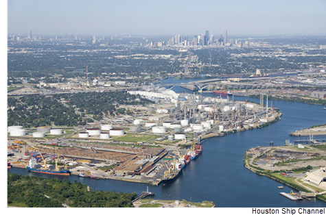 Picture of the Houston Ship Channel