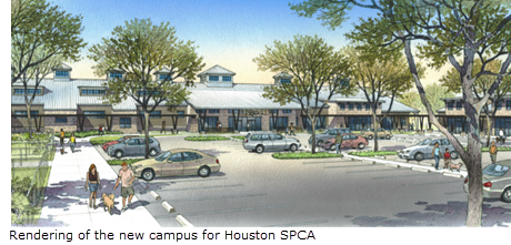 rendering of the new campus for Houston SPCA