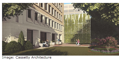 Rendering of the new main entrance
