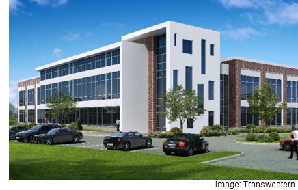 A rendering of the completed medical office project in Sugar Land.