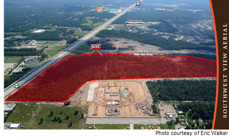 Picture of the Valley Ranch Town Center site