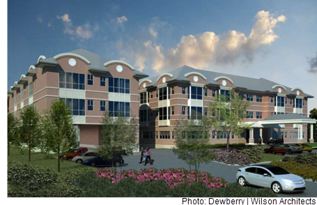 Rendering of the new Holcombe Ronald McDonald House