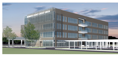 Rendering of Members Choice credit union in Houston