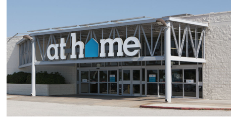 The exterior of an At Home decor superstore.