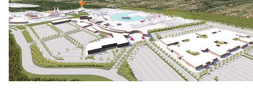 Rendering of Big River water park