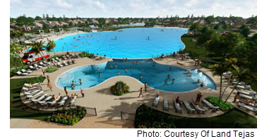 Rendering of the Crystal Lagoon