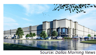 Rendering of the speculative warehouse