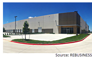 120,960-sf industrial building at the Intermodal Business Center in Hutchins