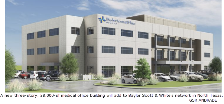 New Baylor Scott & White medical office building in Irving in 2018