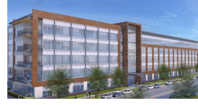 Rendering of Office building being built at 3200